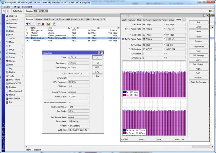 Построение и настройка прозрачного беспроводного моста на примере Mikrotik SXT