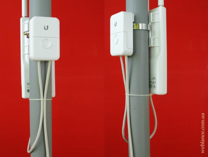 ����� ����� ������� UniFi UAP-Outdoor+ � ������������ Ethernet Surge Protector �� Ubiquiti