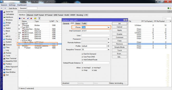 Подключаем 3G-модем к Mikrotik: самый простой вариант резервирования канала. На примере hAP (RB951Ui-2nd) и модема Huawei E173, оператор Lifecell