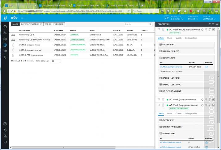 Большой обзор и тестирование UniFi Mesh: новые возможности для развертывания беспроводных сетей. Работа с UniFi Controller 5.3+
